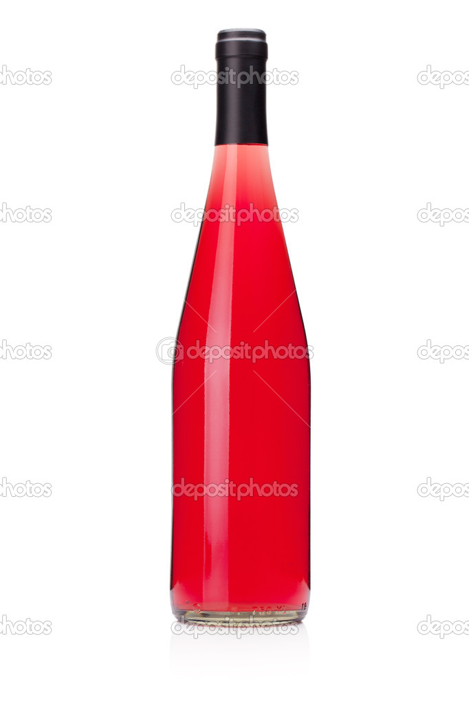 foto botella vino rosado: