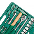 Tools in toolbox. Closeup - Stock Photo