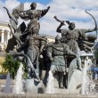 Monument of City-founders at Independence Square in Kiev, Ukraine — Stock Photo