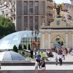 Independence Square in Kiev, Ukraine — Stock Photo