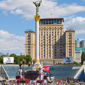 Independence monument in Independence Square, Kiev, Ukraine — Stock Photo