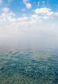 Beautiful calm sea under the blue sky in the morning — Stock Photo