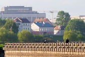 MINSK, BELARUS - MAY 19: Trinity Hill at Svisloch river on May 1 — Stock Photo