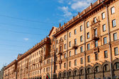 Busy street in the downtown part of Minsk, Belarus — Stock Photo