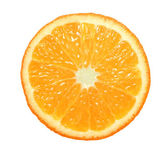 Slice of orange on white background — Stock Photo