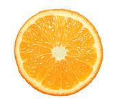 Slice of orange on white background — Stock Photo