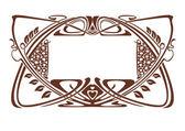 Ramen art nouveau — Stok Vektör