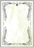 Ramen de estilo art nouveau — Vector de stock