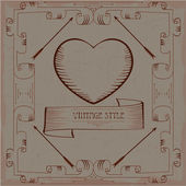 Rahmen vintage — Vector de stock