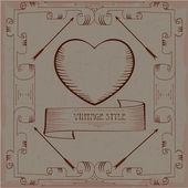 Rahmen vintage — Vecteur