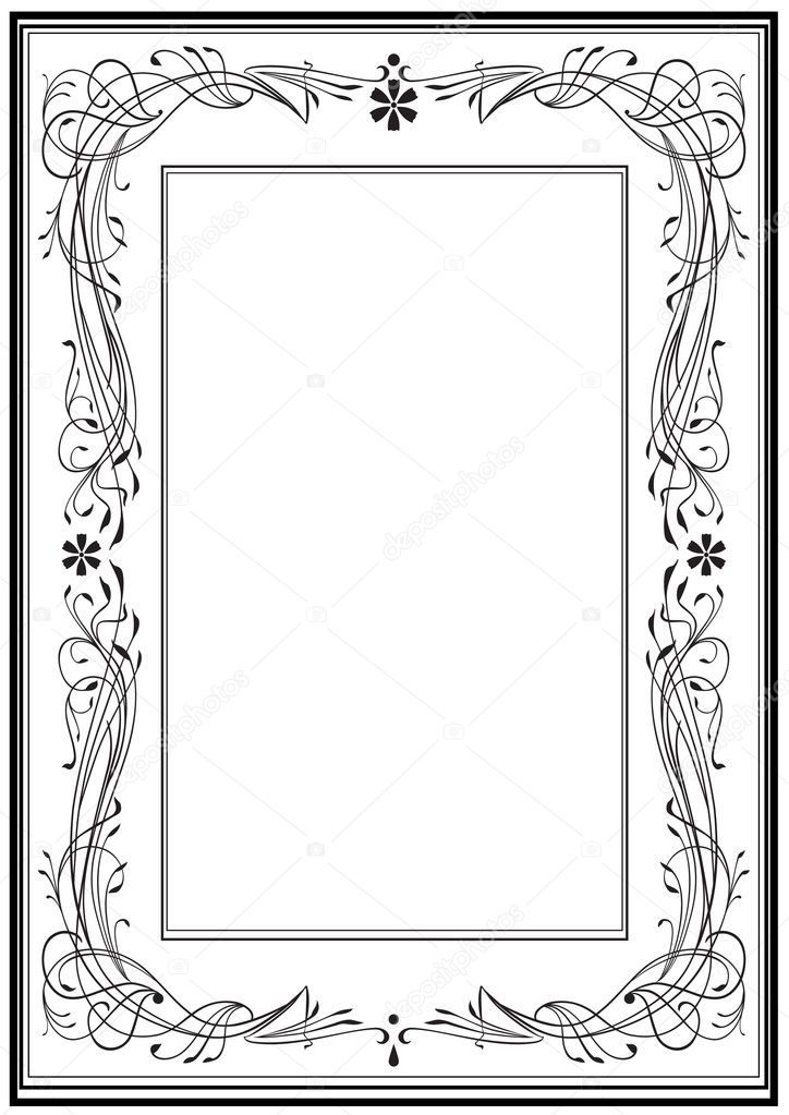 Vector illustration Rahmen Art Nouveau — Stock Vector #6692408