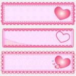 Drei Valentine Banners — Stock Vector #6738018