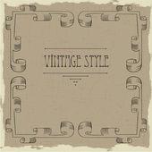 Vintage klapprahmen — Stockvektor