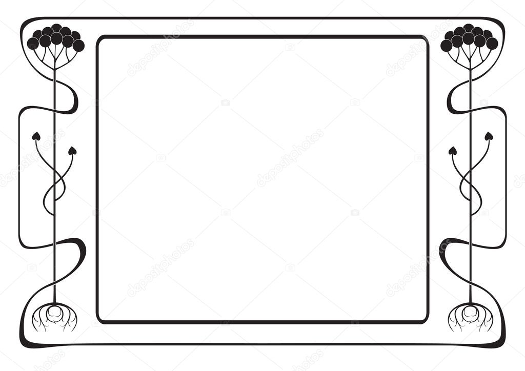 Frame style Modern black-and-white — Stock Vector #6732627