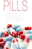 Pills over white — Stock fotografie