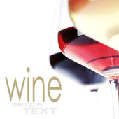 Three glasses of wine — Stock Photo