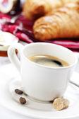 Café e croissants — Foto Stock