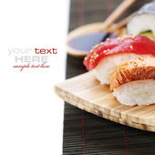 Set of japanese sushi — Stock Photo