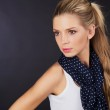 Photo of beautiful woman with blond hair and scarf. — Stock Photo