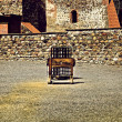 Pillory and stocks, Castle Square - Stock Photo