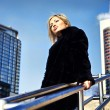 Attractive blond woman in downtown. — Stock Photo #6524955