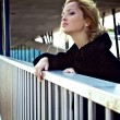 Attractive blond woman in downtown. — Stock Photo #6524970