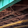 Under the bridge. Urban scene - Stock Photo