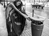 Красивая Гламурная женщина Открытый. — Стоковое фото