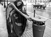 Frau schöne Glamour im freien. — Stockfoto
