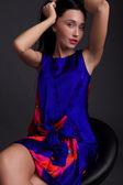 Fashion photo of young cute woman - studio shoot. Ethnic beauty. — Stock Photo