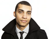Attractive young mulatto. Business style. — Stock Photo