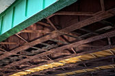 Under the bridge. Urban scene — Stock Photo