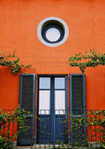Elegant front door, Tuscany — Stock Photo