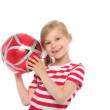 Royalty-Free Stock Photo: Happy girl with soccer ball