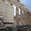 The Temple of Athena at the Acropolis - Stock Photo
