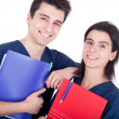 Doctors team holding folders — Stock Photo
