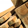 Pine wood logs — Stockfoto