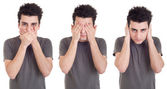 Speak, See, Hear no Evil — Stock Photo