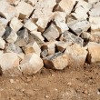 Stones barricade — Stock Photo