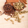 Cardamom pods and cloves — Stock Photo #5843085