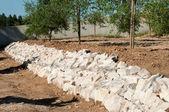 Stones barricade — Stock Photo