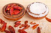 Salt and Piri Piri — Stock Photo