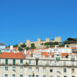 Sao Jorge Castle in Lisbon, Portugal - Stock Photo