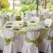 Foto Stock: Wedding table