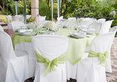婚礼表 — 图库照片