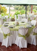 Wedding table — Stockfoto