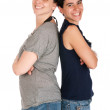 Sisters portrait - Stock Photo