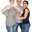 Brother and sisters having fun — Stock Photo