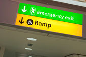 Emergency exit and ramp access sign — Stock Photo