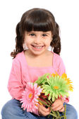 Cute little four year old girl — Stock Photo